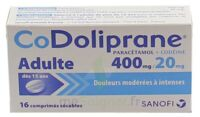 CODOLIPRANE ADULTES 400 mg/20 mg, comprimé sécable à Gradignan