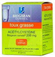 ACETYLCYSTEINE BIOGARAN CONSEIL 200 mg Pdr sol buv en sachet B/20 à Gradignan