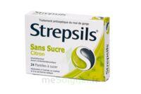 STREPSILS CITRON SANS SUCRE, pastille édulcorée à l'isomalt, au maltitol et à la saccharine sodique à Gradignan