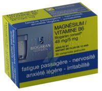 MAGNESIUM/VITAMINE B6 BIOGARAN CONSEIL 48 mg/5 mg, comprimé pelliculé à Gradignan