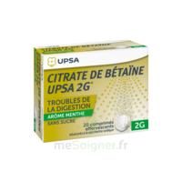 Citrate de Bétaïne UPSA 2 g Comprimés effervescents sans sucre menthe édulcoré à la saccharine sodique T/20 à Gradignan