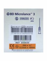 BD MICROLANCE 3, G25 5/8, 0,5 mm x 16 mm, orange  à Gradignan