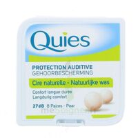 QUIES PROTECTION AUDITIVE CIRE NATURELLE 8 PAIRES à Gradignan