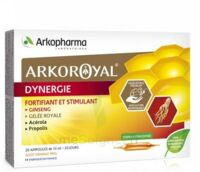 Arkoroyal Dynergie Ginseng Gelée Royale Propolis Solution Buvable 20 Ampoules/10ml à Gradignan