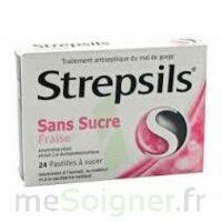 STREPSILS FRAISE SANS SUCRE, pastille édulcorée à l'isomalt, au maltitol et à la saccharine sodique à Gradignan