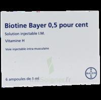 BIOTINE BAYER 0,5 POUR CENT, solution injectable I.M. à Gradignan