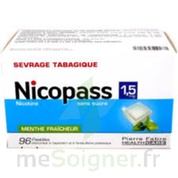 Nicopass 1,5 Mg Pastille Sans Sucre Menthe Fraîcheur Plq/96 à Gradignan