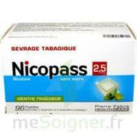 Nicopass 2,5 Mg Pastille Menthe Fraîcheur Sans Sucre Plq/96 à Gradignan