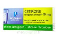 Cetirizine Biogaran Conseil 10 Mg, Comprimé Pelliculé Sécable à Gradignan