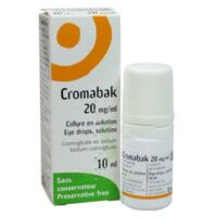 CROMABAK 20 mg/ml, collyre en solution à Gradignan