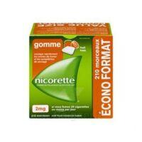 Nicorette 2 Mg Gomme à Mâcher Médicamenteuse Sans Sucre Fruits Plq/210 à Gradignan