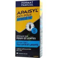 Apaisyl Anti-poux Xpress 15' Lotion Antipoux Et Lente 100ml+peigne à Gradignan
