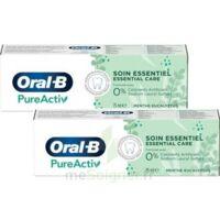 Oral B Pureactiv Dentifrice soin essentiel 2T/75ml à Gradignan